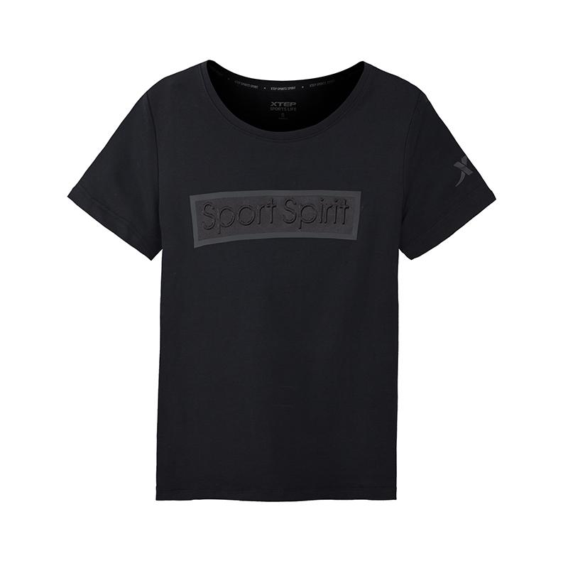 特步 专柜款 女子休闲时尚都市潮流针织衫T恤 982228012167