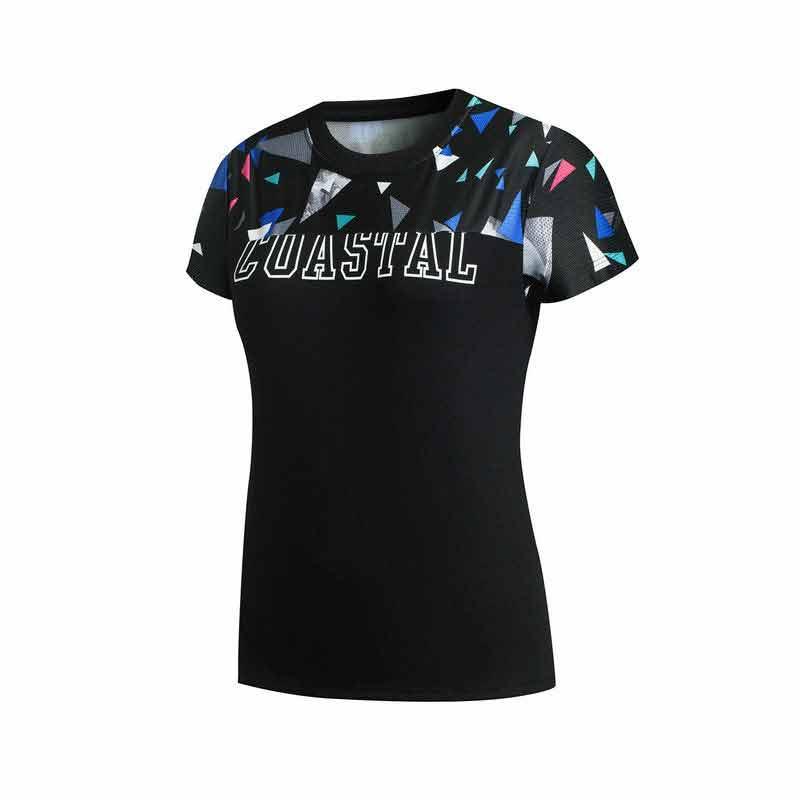 特步 专柜款 女子夏季T恤 新品潮流休闲 女子短袖针织衫983228011741