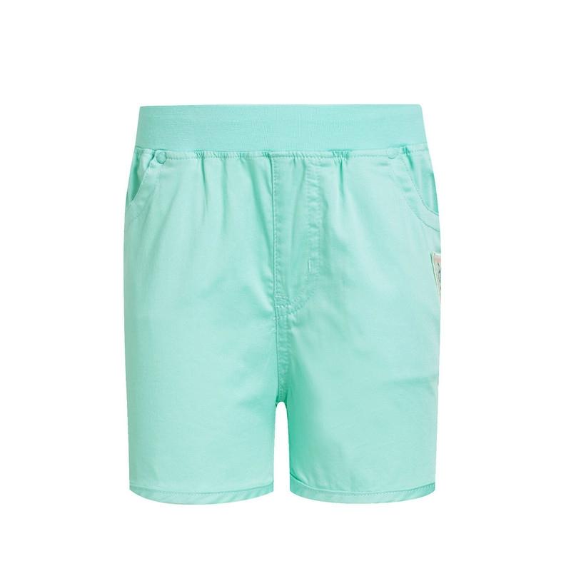 特步 专柜款 女童夏季短裤 纯色简约百搭 女童短裤684224535301