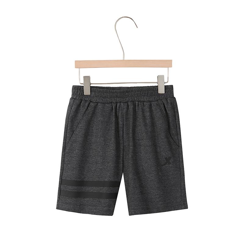 特步 男童夏季新款纯色针织短裤882225609236