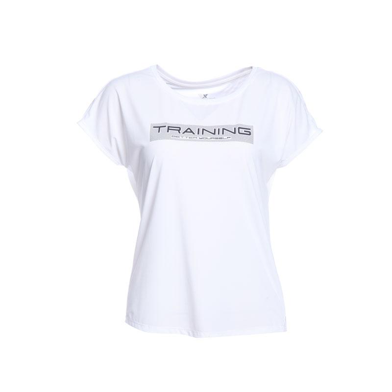 特步 专柜款 女子综训T恤 冰释科技透气舒适运动衫982228012092