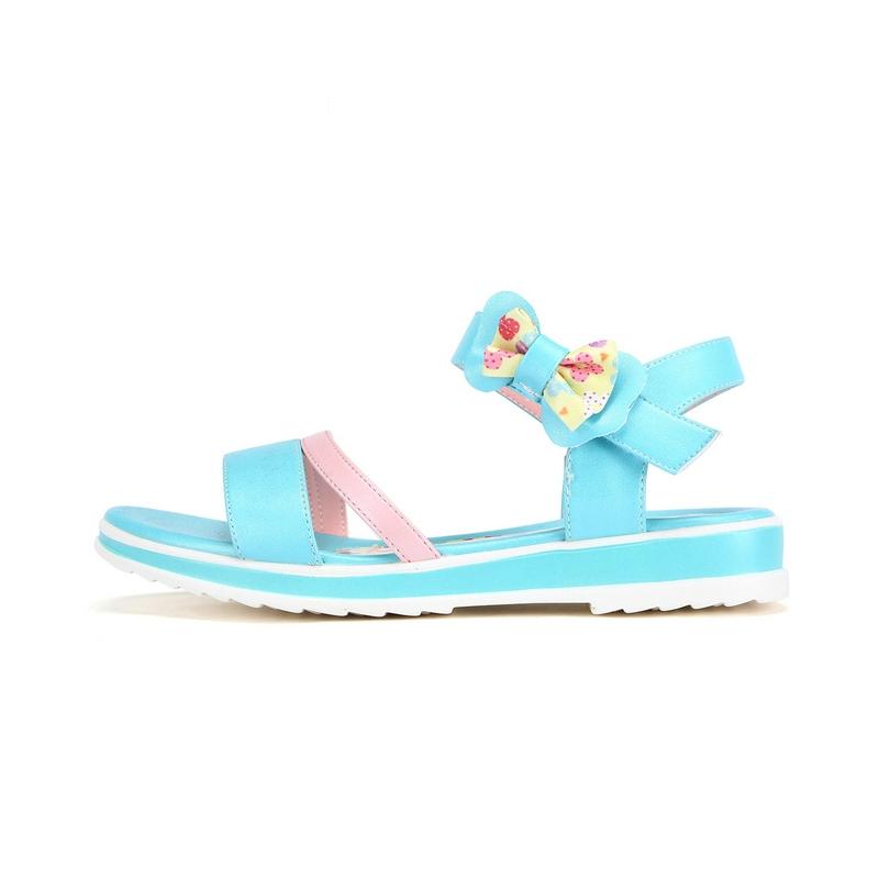 特步 专柜款 女童夏季凉鞋 时尚蝴蝶结 女童公主凉鞋684214205268