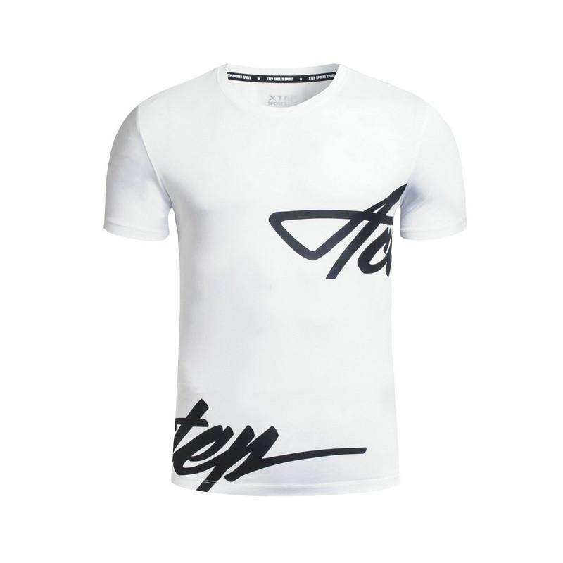 特步 专柜款 男子夏季T恤 都市系列休闲潮流 男子短袖针织衫983329011893