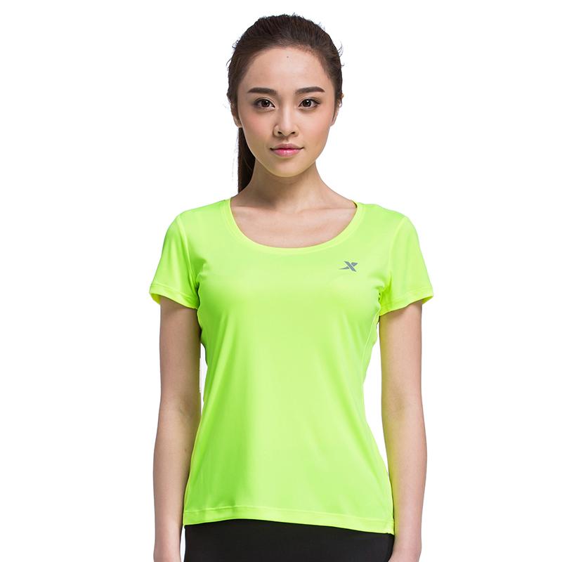 特步 专柜款 夏季新款女士短T恤  简单清凉休闲 运动短袖女984228011520