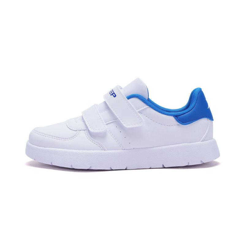 特步 男女童板鞋春季款 休闲时尚百搭小童小白鞋682116319796