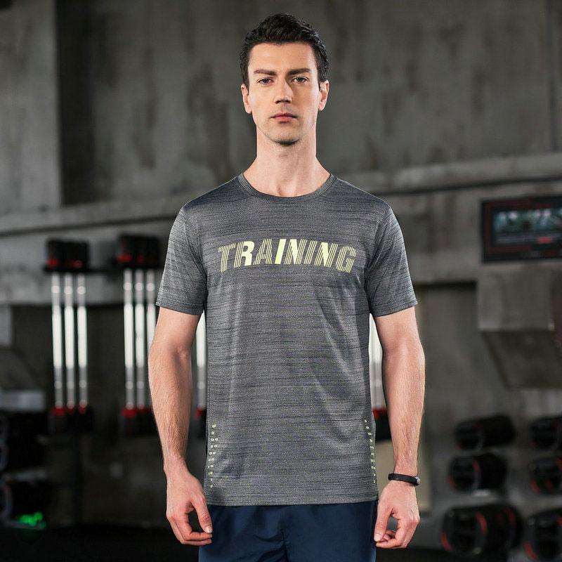 特步 男子运动T恤 轻薄舒适简约时尚潮流训练运动圆领上衣882229019120