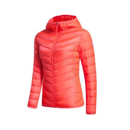 特步 专柜款   冬季女子羽绒服 反光元素 公主线分割时尚保暖外套984428190491