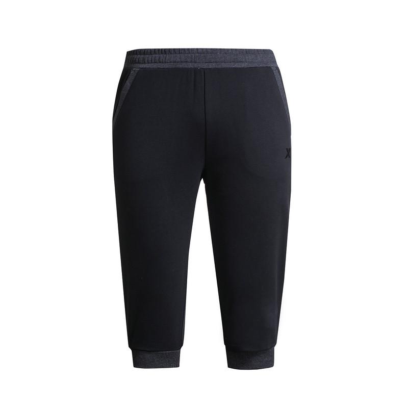 特步 专柜款 男七分裤夏季新品 纯色百搭舒适男针织裤983229620220