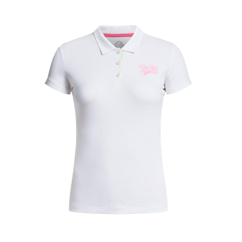 特步 专柜款 夏季女装 新款运动休闲 POLO衫短袖T恤上衣984228020927