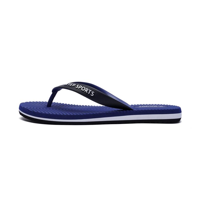 特步  男士运动拖鞋   夏季舒适鞋子882239809018