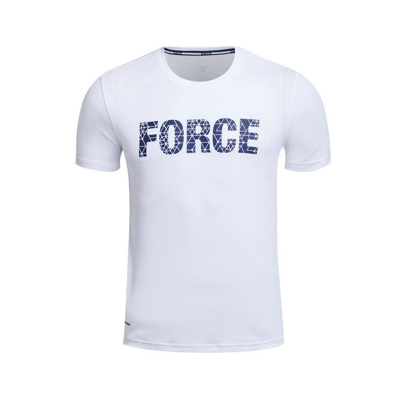 特步 专柜款 男子夏季短袖  舒适百搭男T恤983229011690
