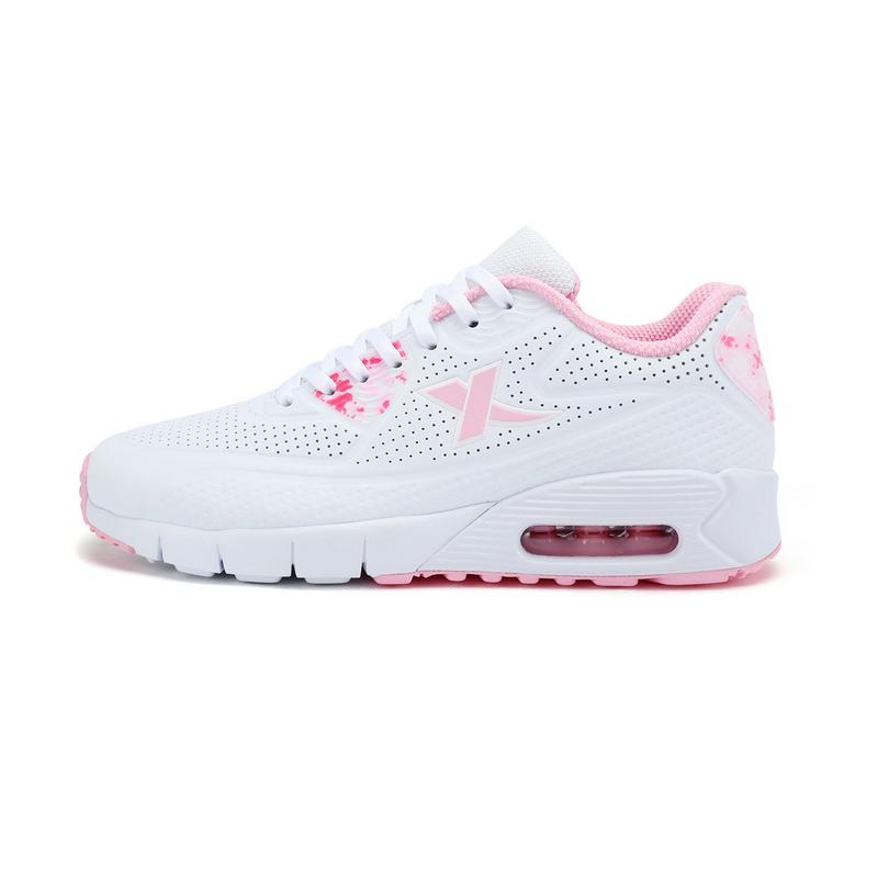 特步 专柜款   女子休闲鞋  春季新品 甜美百搭气垫女鞋983118325928