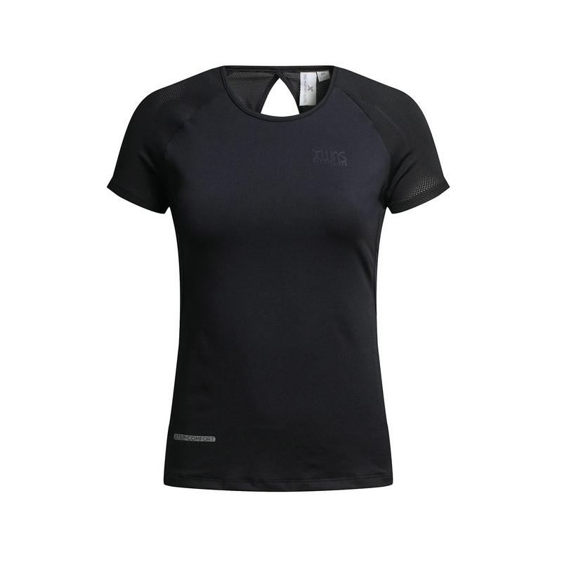 特步 专柜款 女子夏季T恤  纯色女上衣983228011801