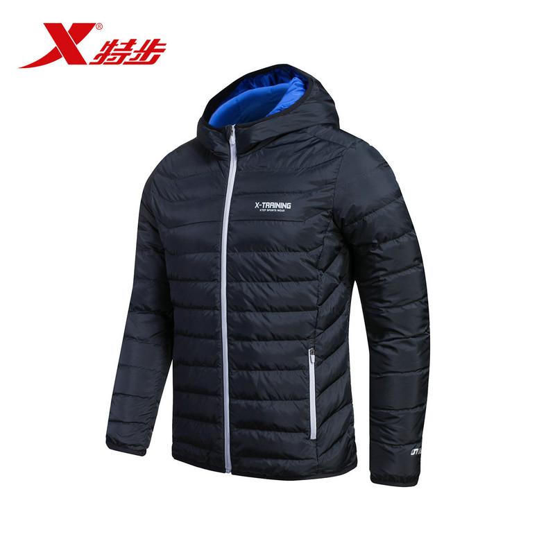 特步 专柜款  男子冬季新品男羽绒服 时尚保暖男外套984429190511