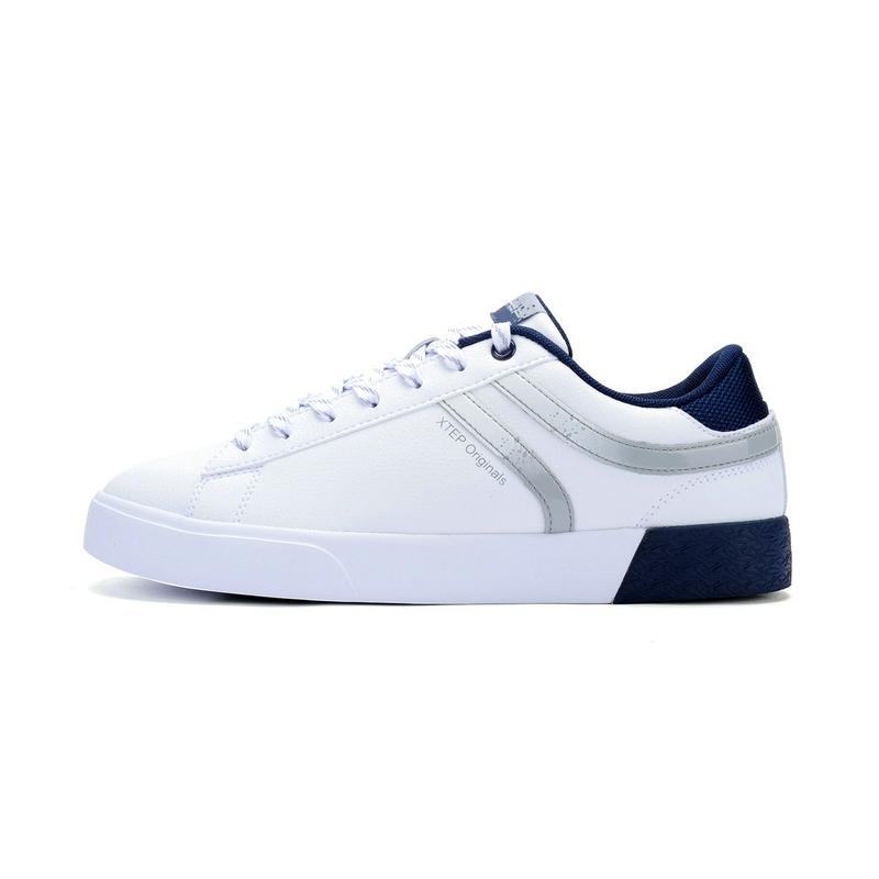 特步 专柜款   冬季新品男板鞋 简约时尚潮流π鞋 男鞋984419315391