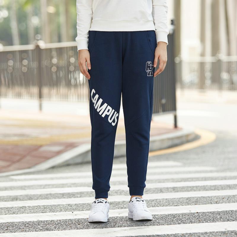 特步 女子春季针织长裤 潮流字母印花针织长裤882128639022
