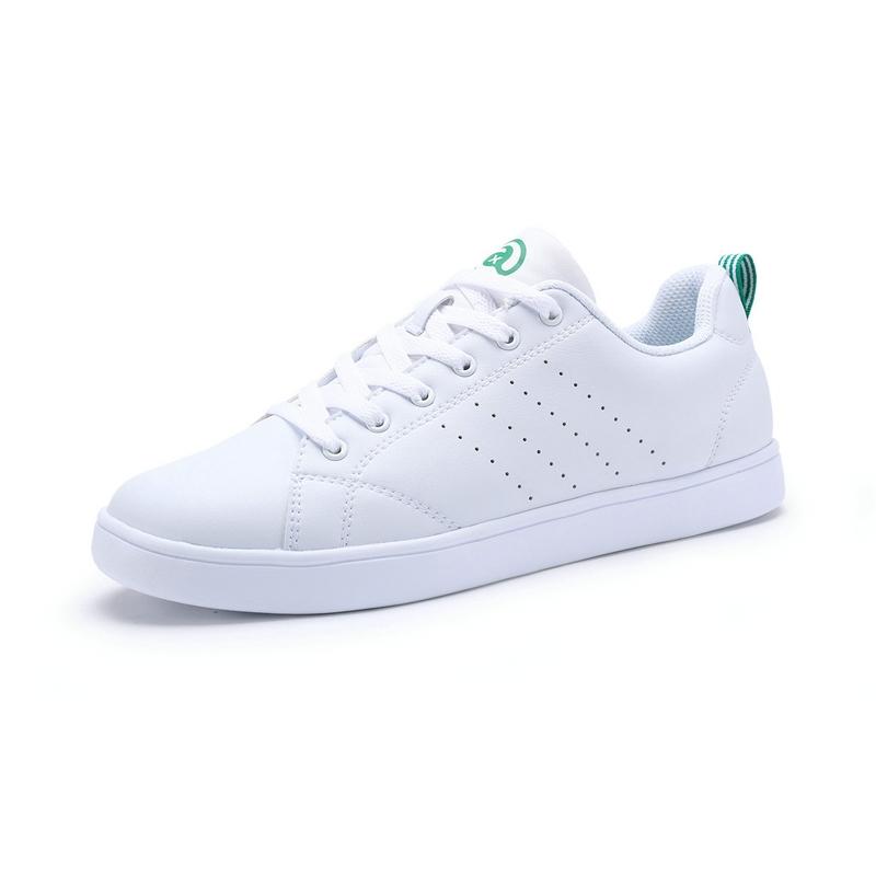 特步男款小白鞋 简约时尚百搭男运动鞋983119319699