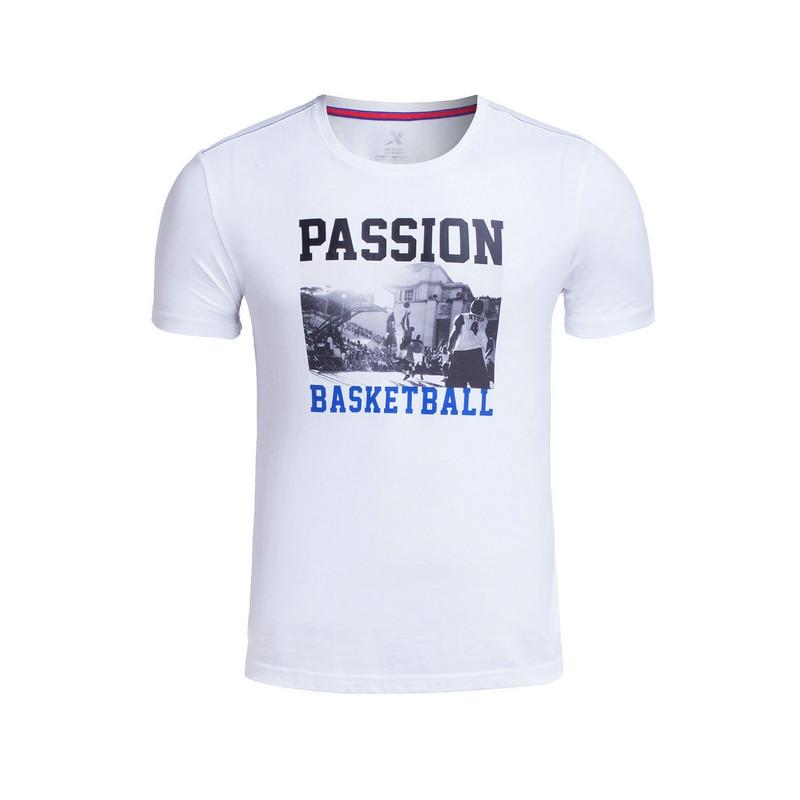 特步 专柜款 男子夏季短袖 17新品 篮球运动男T恤983229011675