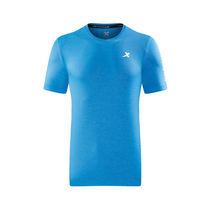 特步 专柜款 男子夏季新款短袖针织衫时尚潮流T恤982229012261