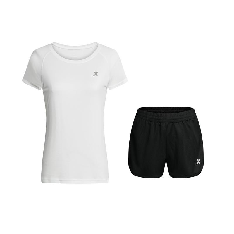 特步 女子夏季跑步套装 健身运动透气女装882228959312