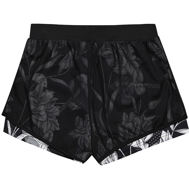 特步 专柜款 女子短裤夏季新品休闲透气轻便简约女子跑步运动短裤982228600106