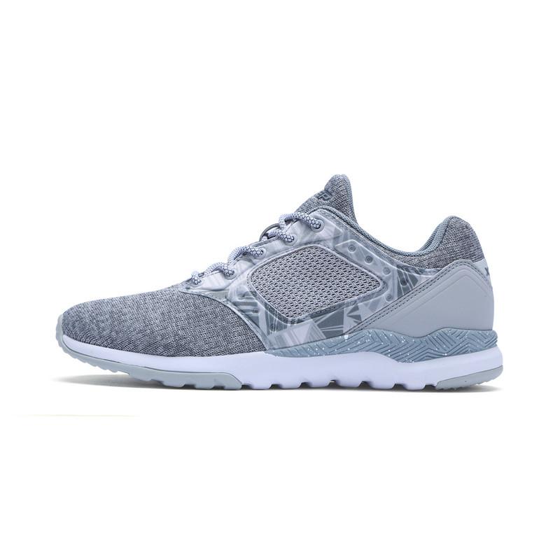 特步 专柜款 女子冬季休闲鞋 新品炫彩一体织休闲鞋983418329088