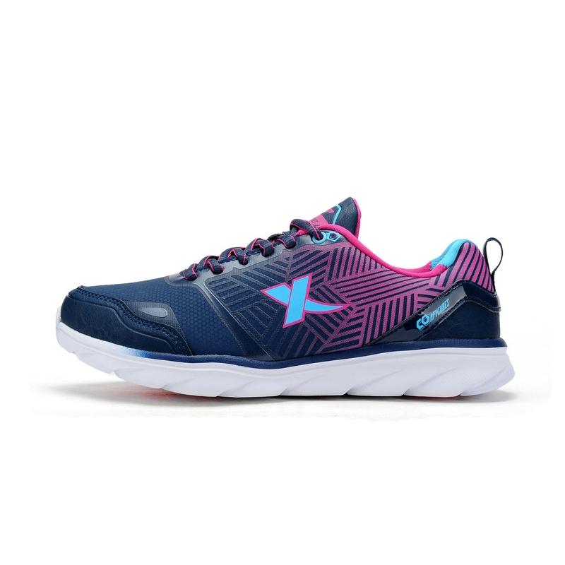 特步 专柜款  新品专柜情侣款女跑鞋  柔立方科技轻跑女鞋984418115973