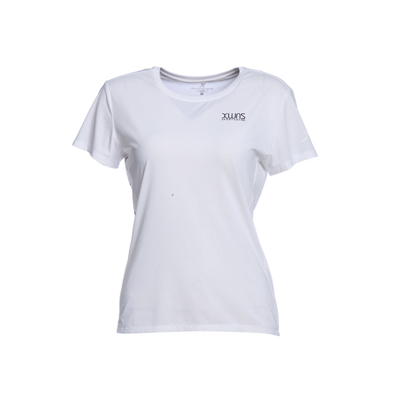 特步 专柜款 女子透气T恤 冰释科技运动针织衫982228012090