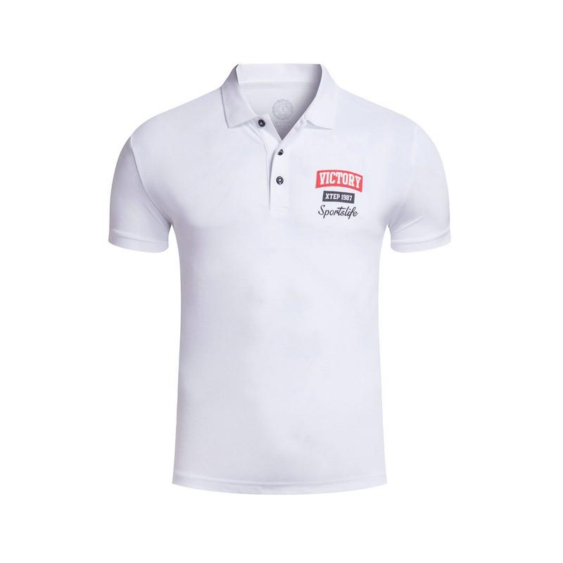 特步 专柜款 夏季男POLO衫 短袖舒适透气 简约男装983229020992