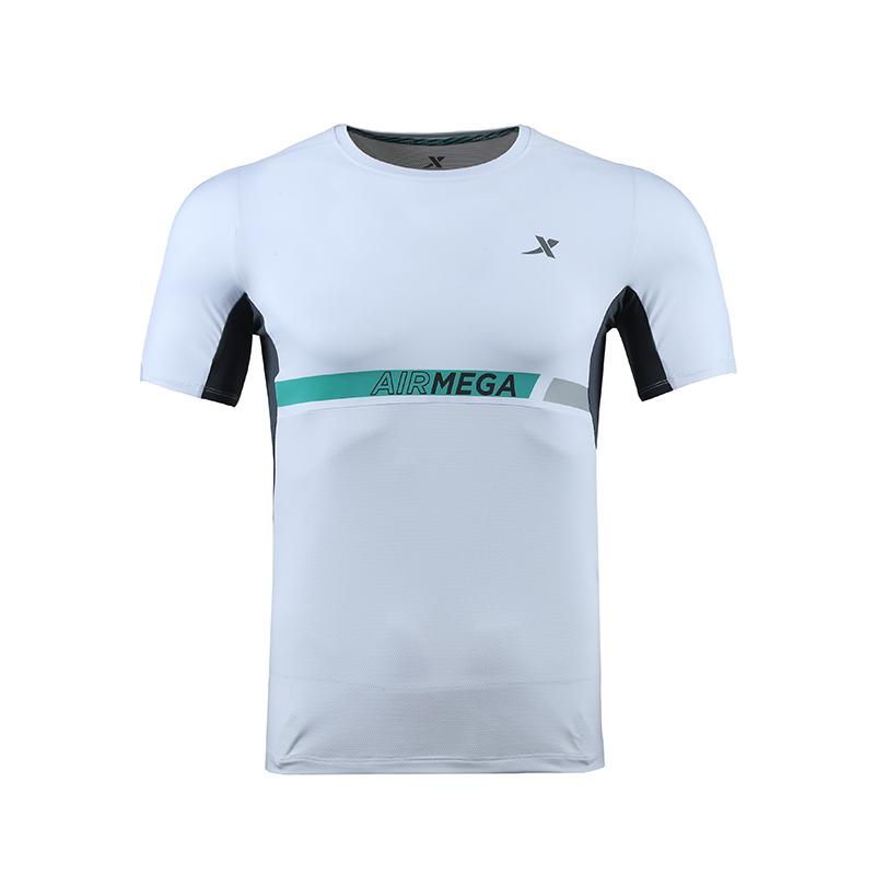 特步 专柜款 男子跑步T恤 马拉松跑步短袖针织衫982129012032