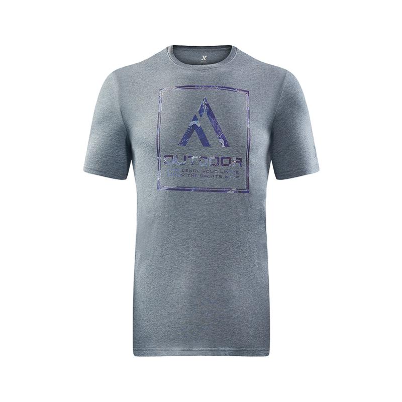特步 专柜款 男子夏季户外T恤 运动健身透气男装982229012046