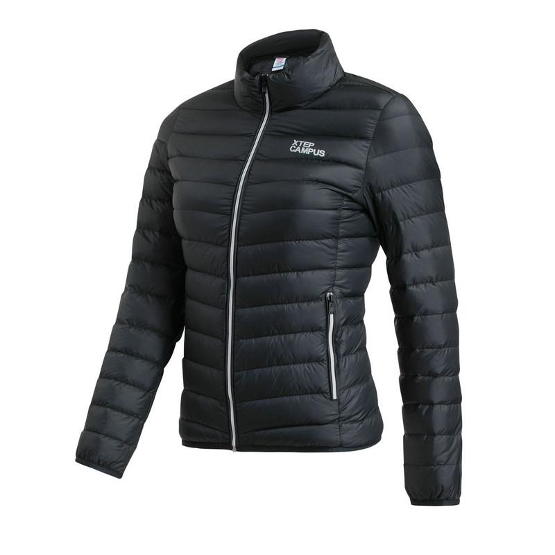特步 专柜款  女羽绒服冬季新品 纯色百搭保暖女外套984428190569