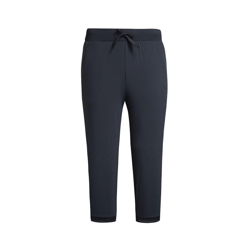 特步 专柜款 女子夏季七分裤 新品跑步健身运动 梭织运动七分裤983228800022