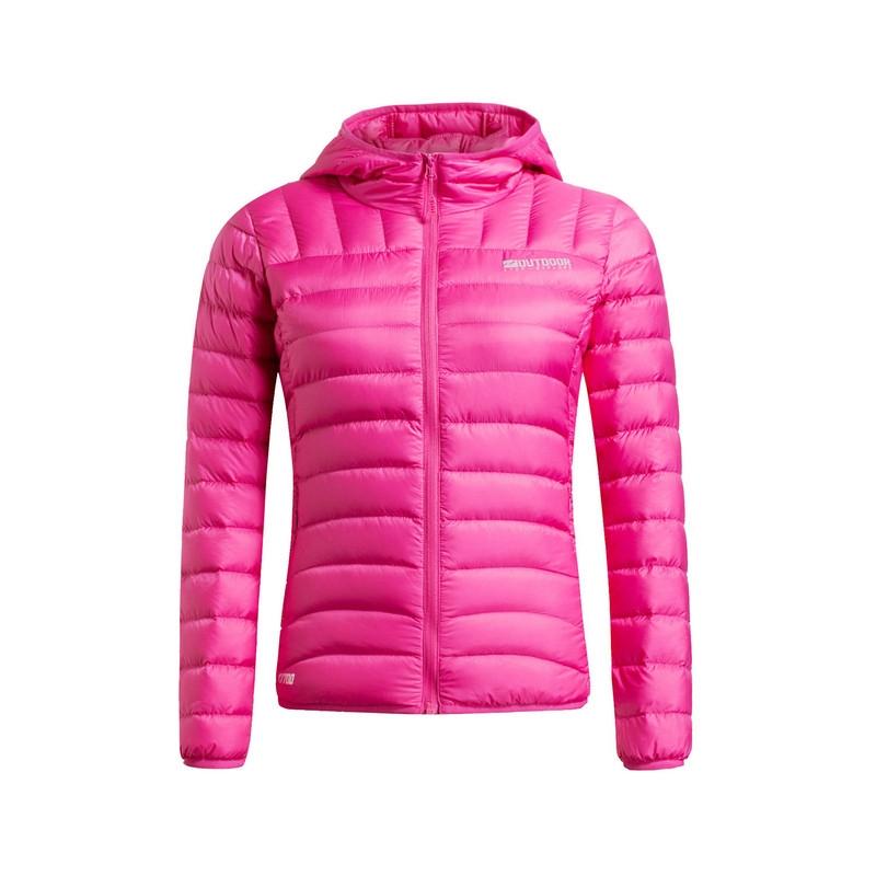 特步  新款 女外套 时尚保暖带帽 女羽绒服984428190466