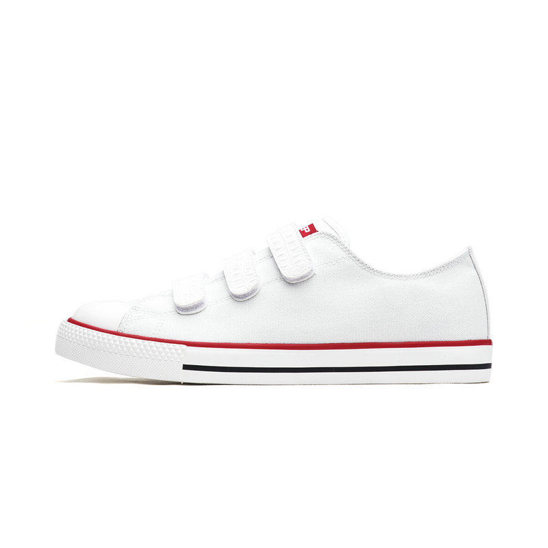 特步 男子帆布鞋 新款纯色经典简约休闲鞋982219109273