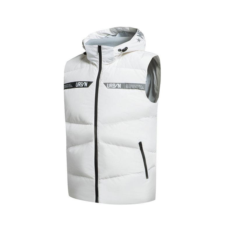 特步 专柜款 男子羽绒马甲  都市时尚保暖上衣983429260035