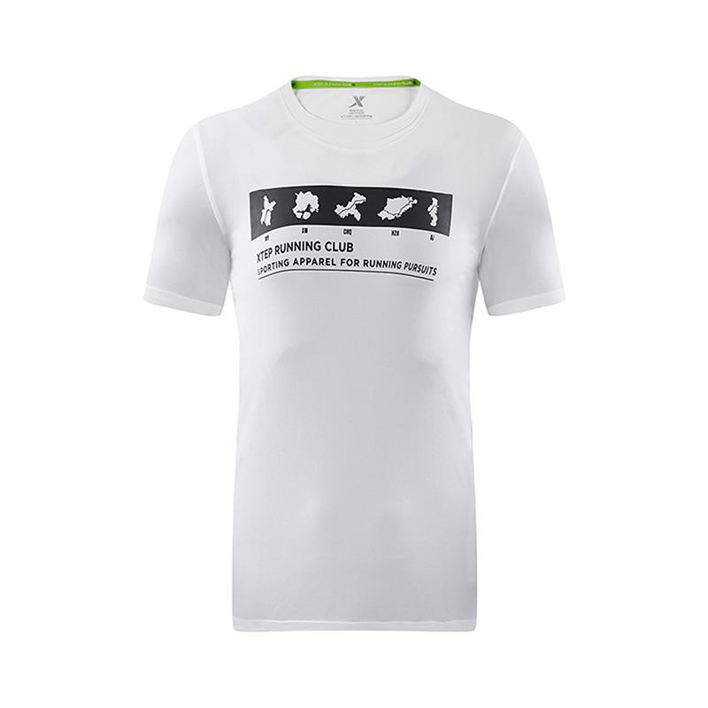 特步 专柜款 男子夏季T恤 跑步运动T恤982229012265