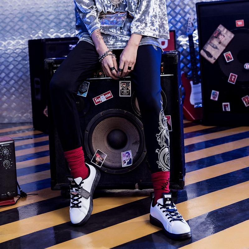特步 专柜款 女子秋季新款潮流嘻哈时尚打底裤982328650073