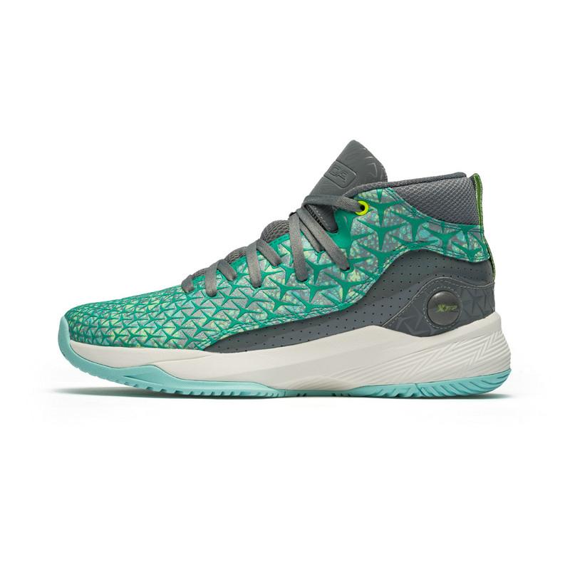 特步 专柜款 男子秋季减震舒适耐磨新款高帮系带篮球鞋982319121191