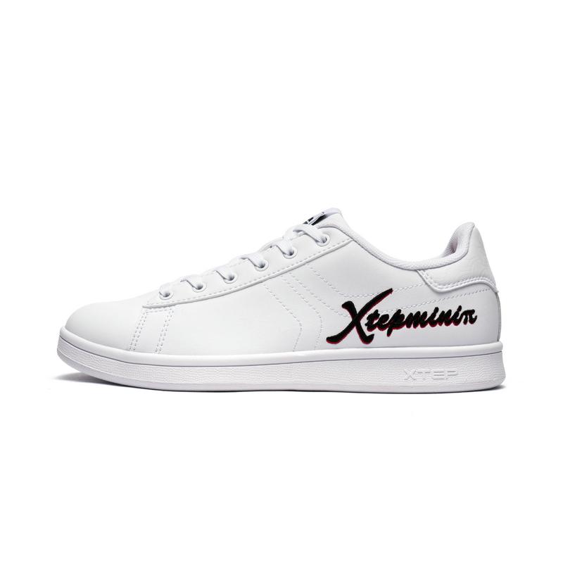 特步 专柜款 女子秋季板鞋 时尚百搭小白鞋982318315896