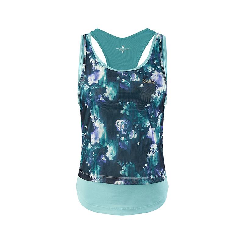特步 专柜款 女子背心 新款女子健身训练运动背心982328090087