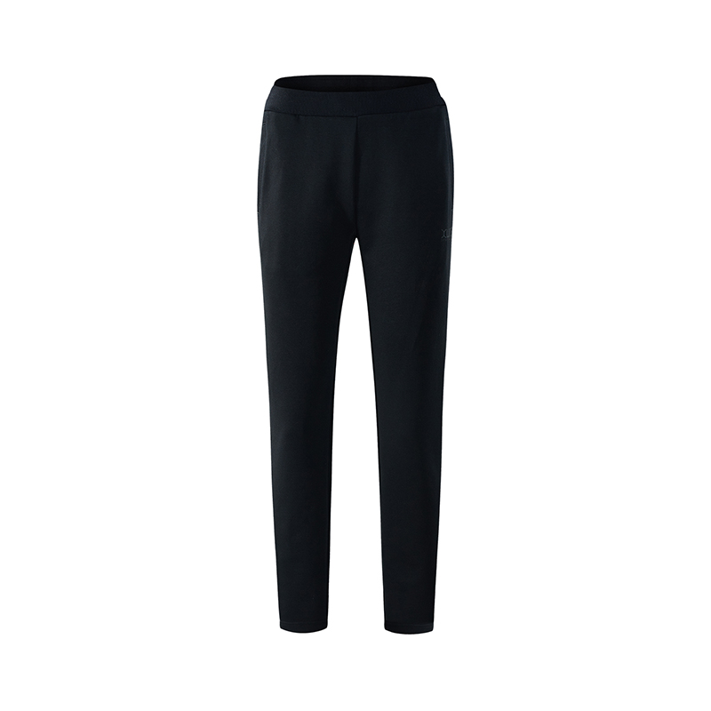 特步 专柜款 女针织长裤 都市简约舒适长裤982328631477