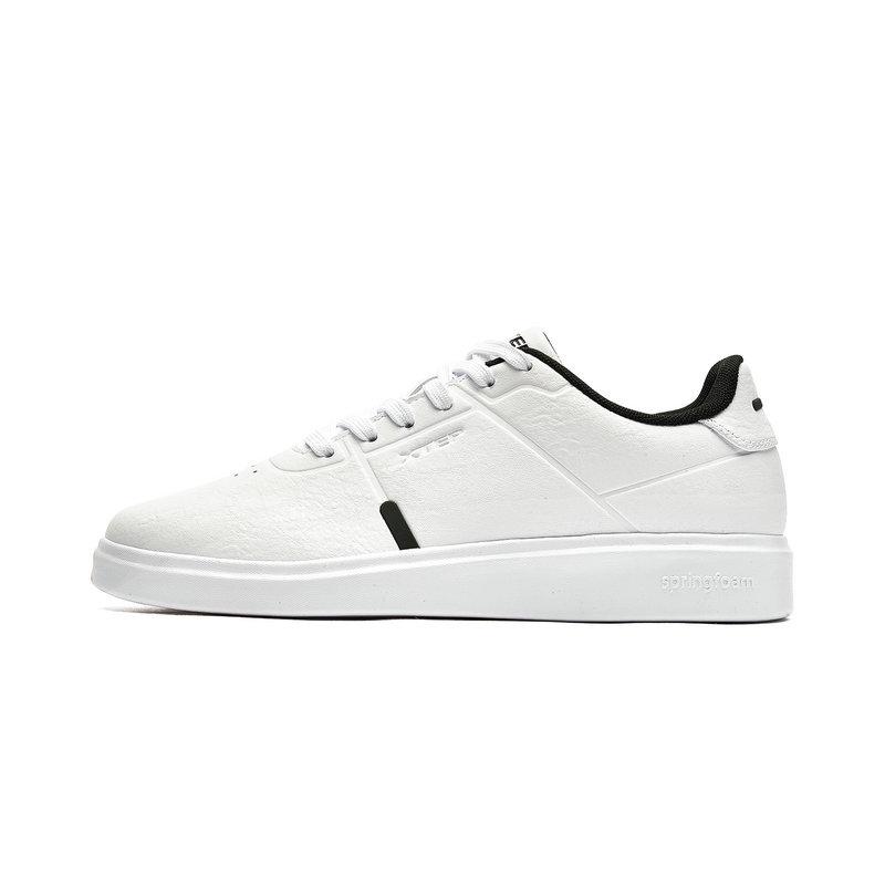 特步 专柜款 男子板鞋 秋季轻便耐磨小白鞋982319315879