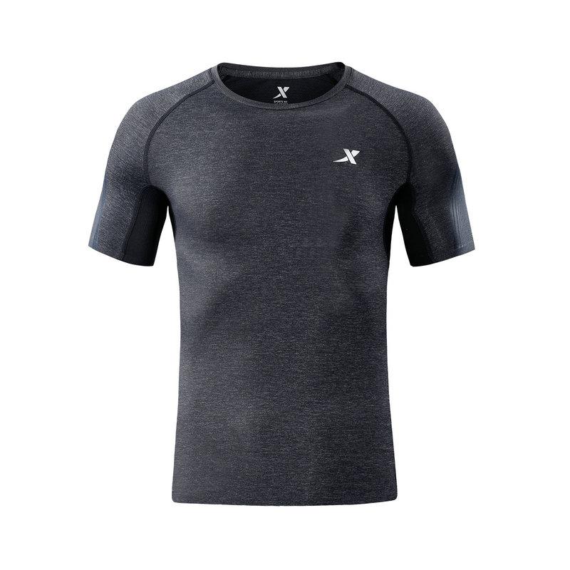 特步 专柜款 男子短袖针织衫T恤2018年秋季新款轻便时尚正品都市休闲简约982329012319