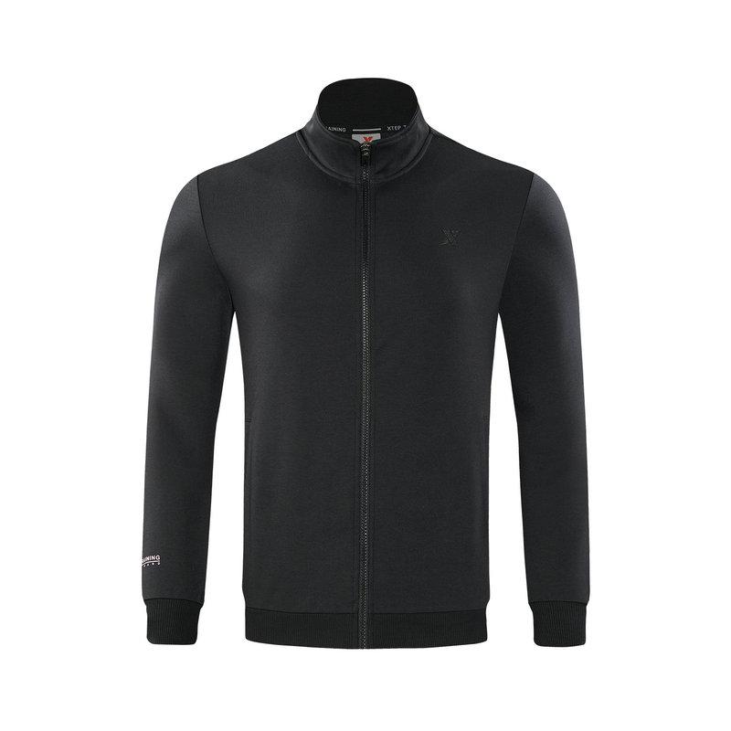 特步 专柜款 男子卫衣 时尚简约都市休闲运动拉链上衣982329061667