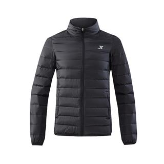 特步 男子羽绒服 秋季新品舒适轻薄立领保暖休闲运动外套882329199203