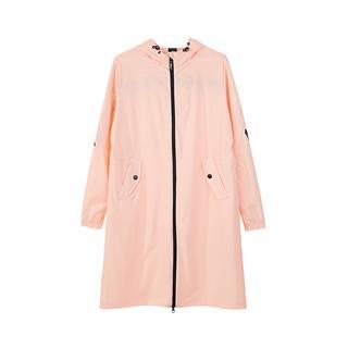 特步 专柜款 女子单风衣 秋季新款时尚流行连帽都市休闲风衣长外套982328140230
