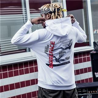 特步 专柜款 男子卫衣 2018秋季新品时尚穿搭潮流嘻哈连帽舒适上衣982329051688