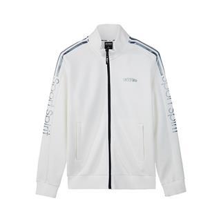 特步 专柜款 男子针织上衣 运动休闲经典教练夹克男外套2018秋季新款982329061633