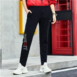 特步 女子针织长裤 18冬季新款舒适保暖轻便运动时尚女长裤882428639038